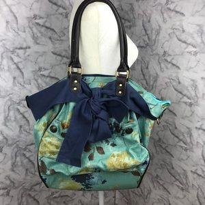 Deux Lux Large Floral Bow Shoulder Bag